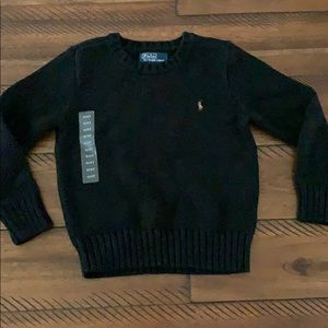 Polo Ralph Lauren NWT Black Crew Neck Sweater 4T
